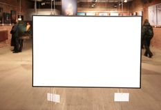 Frame on exhibition Royalty Free Stock Photography