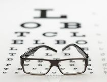 Frame on eye chart Stock Image