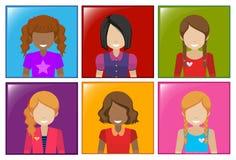 A frame with faceless girls Stock Photos
