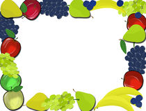 Frame for fake images or fluff with transparent background fruits on a transparent background stock images
