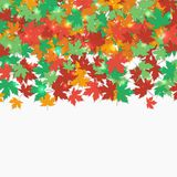 Frame fallen maple leaves. Autumn background. Vector illustration. Royalty Free Stock Images