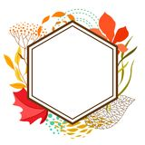 Frame with falling leaves. Natural illustration of autumn foliage Stock Photography