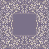 Frame fancy flower. Floral background Royalty Free Stock Image