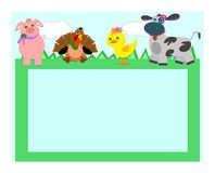 Frame with Farm Animals Royalty Free Stock Images