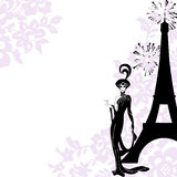Frame fashion, beauty, Paris Royalty Free Stock Images