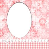 Frame feminino cor-de-rosa ilustração royalty free