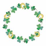 Frame festive wreath for St. Patrick`s dayFestive wreath for St. Patrick`s day. Vector illustration vector illustration