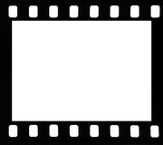 Frame of film. Frame of negative film on a white background