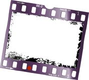 Frame of film, grungy photo frame. Free space for pix, vector Stock Photo