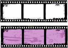 Frame of film, grungy photo frame Stock Photos