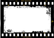 Frame of film, grungy photo frame. With free copy space,vector illustration Stock Photo