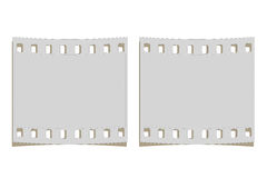 Frame film strip. Illustration with blank film strip frame isolated on white Royalty Free Stock Photography