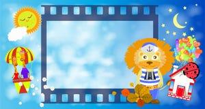 Frame. Film strip frame. a lion Stock Photos