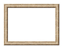 Frame with fine mesh texture. Rectangular frame for pictures with a fine mesh texture of gray tones on a white background Stock Photos
