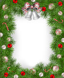 Frame of fir branches Stock Photo