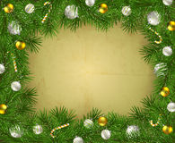 Frame of fir branches Royalty Free Stock Photos