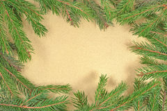 Frame of fir branches Stock Photos