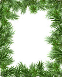 Frame of fir branches for Christmas card. Greeting card template Royalty Free Stock Photos