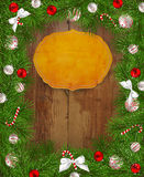 Frame of fir branches Royalty Free Stock Photo