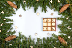 Frame from fir-tree branches Royalty Free Stock Image