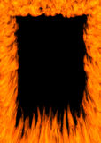 Frame Of Fire. Flaming frame - high quality realistic flame border Royalty Free Stock Photo