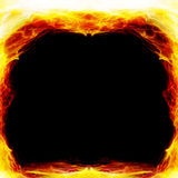 Frame on fire Stock Images