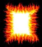 Frame from fire. Illustration of frame from fire Royalty Free Stock Photos