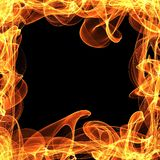 Frame of fire. On the black background Stock Photography