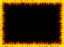 Frame of fire, flames. Abstract frame made out of fire Stock Image