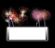 Frame with fireworks. Stock Photography