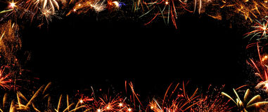 Frame of fireworks Royalty Free Stock Image
