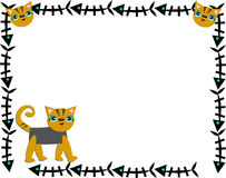 Frame of Fish Bones and Cats. Here is a cute frame with a feline theme Stock Images