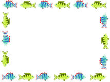 Frame of fish on a transparent background. Frame of two kinds of fish on a transparent background Stock Images