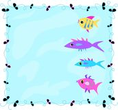 Frame of Fish in Water Royalty Free Stock Photography