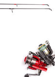 Frame from fishing rods and reels Stock Image