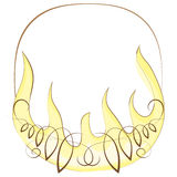 Frame with flame. vector illustration. On white background Royalty Free Stock Images