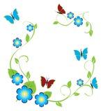 Frame floral Fotos de Stock