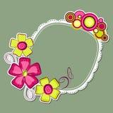 Frame floral Imagens de Stock Royalty Free