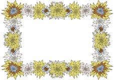 Frame floral Imagem de Stock Royalty Free
