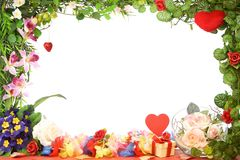 Frame floral. Fotografia de Stock