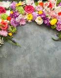 Frame floral Fotos de Stock Royalty Free