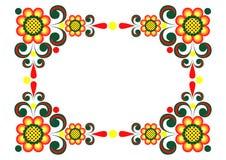 Frame floral abstrato Imagens de Stock