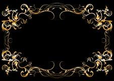 Frame floral abstrato Fotos de Stock Royalty Free