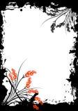 Frame floral abstrato de Grunge Fotografia de Stock Royalty Free