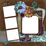 Frame floral aciganado boémio Fotografia de Stock Royalty Free