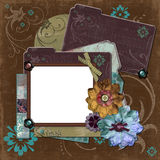 Frame floral aciganado boémio Imagens de Stock Royalty Free