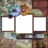 Frame floral aciganado boémio Foto de Stock Royalty Free