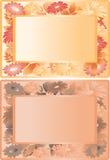Frame floral alaranjado Fotos de Stock
