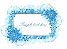 Frame floral azul bonito Fotos de Stock Royalty Free