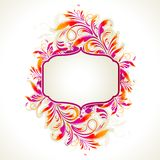 Frame with Floral Background Royalty Free Stock Photography